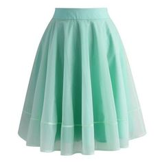Chicwish Turely Tulle A-line Skirt in Mint ❤ liked on Polyvore featuring skirts, green skirt, chicwish skirt, green tulle skirt, tulle skirts and knee length tulle skirt