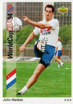 John Harkes of USA. 1994 World Cup Finals card.