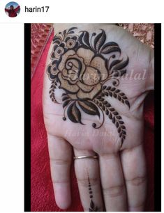 Mehandi design has a Different place in our heart. Keep this above statement in our mind we come with a great collection of lastest Mehandi Design. Henna Tattoo Designs Arm, Indian Henna Designs, Rose Mehndi Designs, Beautiful Henna Designs, Mehndi Designs For Fingers, Dulhan Mehndi Designs, Latest Mehndi Designs, Mehndi Tattoo, Henna Mehndi
