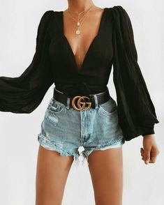 Perfect Outfits To Try Right Now – Kleidung mode – boss Cute Casual Outfits, Girly Outfits, Short Outfits, Stylish Outfits, Teen Party Outfits, Cute Outfits With Shorts, Gucci Outfits, Mode Outfits, Fashion Outfits