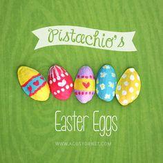 DIY: Pistachios Easter Eggs / Huevitos de pistacho #easter #diy