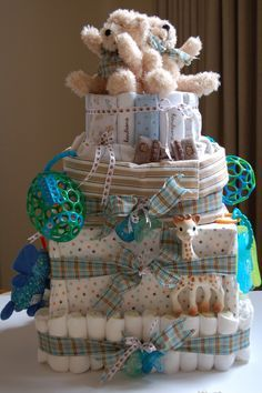 By the Way: Diaper Cake for Twin Boys
