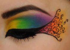 #makeup #art #desenho #arcoiris #delineador