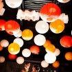 orange reception decor