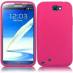 INSTEN For Samsung Galaxy S Note 2 N7100(AT & T) Silicone Skin Case Hot Pink