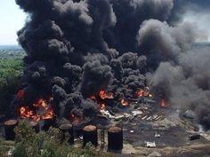Fire near Kyiv
