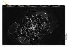 Carry-all Pouch featuring the digital art Chaotic Motion. Nightlife. by Elena Ivanova IvEA #ElenaIvanovaIvEAFineArtDesign #Decor #Gift #CarryAllPouches