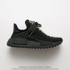 Adidas Human Race, Human Race Nmd, Pharrell Williams, Jogging, Racing Shoes, Yeezy Shoes, Unisex, Crossover, Black Gold