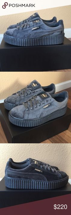 PUMA X RIHANNA Velvet CREEPERS FENTY Grey ✨ PUMA X RIHANNA Velvet CREEPERS FENTY Glacier Grey // New with tags ✨// Women's size 8 // Puma Shoes Sneakers