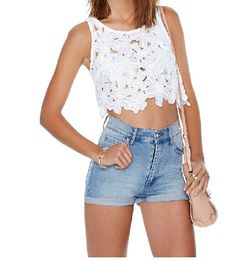SEXY LACE EMBROIDERED VEST