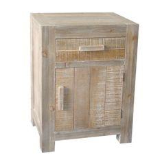 Chevet 1 tiroir 1 porte en bois Hauteur 63.5 cm ONTARIO