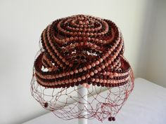 Bes Ben Pink and Burgandy bead hat/private collection