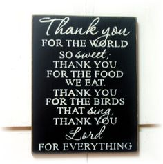Thank you for the world so sweet thank you for by woodsignsbypatti
