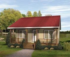 Cozy Country Cabin - 2253SL | Cottage, Country, Narrow Lot, 1st Floor Master Suite, CAD Available, PDF | Architectural Designs