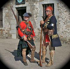 Highlander and native American 1759