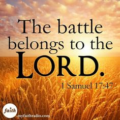 """""""And all this assembly shall know that the LORD saveth not with sword and spear: for the battle is the LORD'S, and he will give you into our hands."""""""