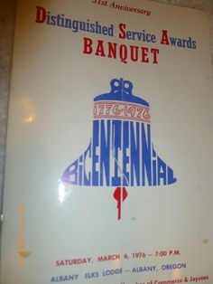 TOM HARMON GUEST SPEAKER BANQUET PROGRAM ALBANY OREGON ELKS 1976 TIMBER CARNIVAL #LARAMS