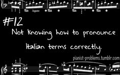 And your all-knowing teacher has to correct you...Pianist Problems