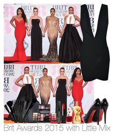 """Brit Awards 2015 with Little Mix"" by irish26-1 ❤ liked on Polyvore featuring Christian Louboutin, NARS Cosmetics and Topshop"