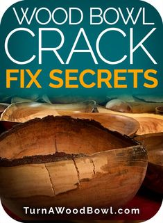 Wood Bowl Crack Fix Secrets Pinterest