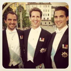 "Instragram caption by Crown Princess Marie-Chantal of Greece: ""The gorgeous Greeks and mine's in the middle⭐❤⭐"" (mariechantal22); wedding of Princess Madeleine of Sweden and mr. Christopher ""Chris"" O'Neill, June 8th 2013"