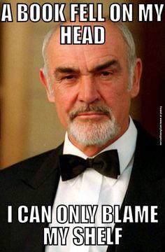 Sean Connery's bookshelf   Very Funny Pics