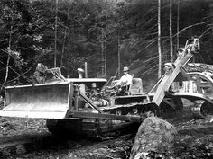 The Union Pacific proposed hoisting a bulldozer like this one to the top of Warren Falls and using it to push debris over the brink!