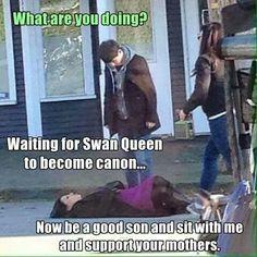 Waiting for swan queen