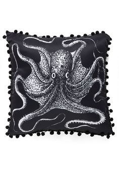 Octopus pillow  Put a tentacle on it: 7 octopodes you need in your home | Offbeat Home