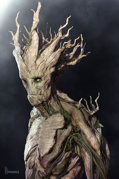 Groot Concept Art For Marvel's GUARDIANS OF THE GALAXY