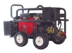 B E Pressure PE-3024HWEBCOM Gas Pressure Washer for Honda GX690 Engine Belt Drive, Comet TW8030S Pump, 3000 psi, 8.0 GPM, Black/Red