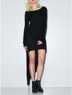 cutaway dress black