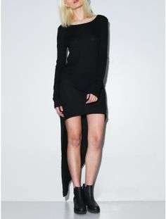 cutaway dress black