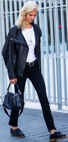 Aymeline Valade Black And White Boyish Fall Streetstyle Inspo by A Love Is Blind