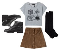 """""""Grunge 5"""" by arabellas-outfits ❤ liked on Polyvore featuring Abercrombie & Fitch, Bamboo and Shimera"""