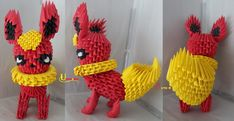 3D Origami - Flareon