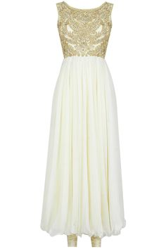 White Gown Style Anarkali