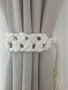 Macrame Curtain Tie Backs 2 pcs Cotton Rope Curtain Tie Backs Nursery Curtain Tie Backs Curtain Holdbacks White Curtain Ties Curtain Tie Backs Diy, Rope Curtain Tie Back, Rope Tie Backs, Curtain Ties, Curtain Tiebacks Ideas, Macrame Art, Macrame Projects, Diy Projects To Make And Sell, Nursery Curtains