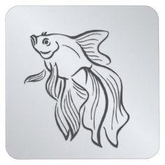#fishing - #Siamese Fighting Fish Square Paper Coaster