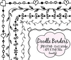 This item is unavailable Doodle Borders, Borders For Paper, Borders And Frames, Doodle Frames, Doodle Art, Bullet Journal Ideas Pages, Bullet Journal Inspiration, Page Borders Design, Border Design