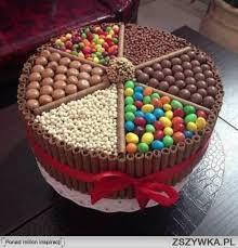 Znalezione obrazy dla zapytania torty z cukierkami