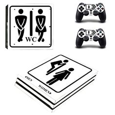 Protective Vinyl Skin Decal Cover for Sony PlayStation 4 Pro PS4 Pro Console  Remote DualShock 4 Pro Controller Sticker Skins  Toilet * Find out more about the great product at the image link.Note:It is affiliate link to Amazon. #instafashion