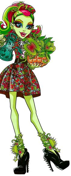 Monster High by Airi Monster High Cupcakes, Monster High Art, Monster High Characters, Monster High Dolls, Plant Monster, Personajes Monster High, Forest Elf, Ever After High, Cartoon Styles
