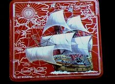 VOYAGE OF THE MAYFLOWER Large English Tin Ship NABISCO Crackers FREARS ENGLAND #NABISCOFREARS #voyageofthemayflower