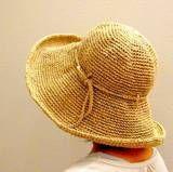 無料編み図 こま編みの帽子001 : かぎ編みの無料編み図と編み方入門ブログ