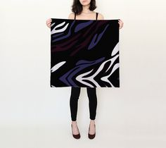 Must see Purple Black Zebra Print Silk Scarf check it out here [product-link]