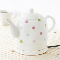 Country Spot Collection Ceramic Kettle | Dunelm