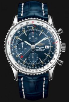 Breitling Navitimer World GMT Watches Collection. Breitling Navitimer, Breitling Superocean Heritage, Breitling Watches, Men's Watches, Cool Watches, Fashion Watches, Breitling Chronograph, Trendy Watches, Elegant Watches
