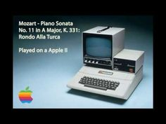 Mozart - Piano Sonata No. 11 in A Major - Original Apple II - YouTube
