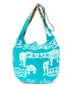 This Blue Elephant Reversible Batik Bag is perfect! #zulilyfinds